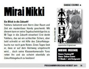 Mirai Nikki Deutsch